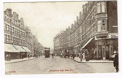 Postcard, Streatham High Road, Postmarked 1910.
