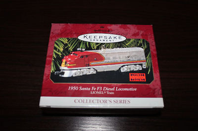 1997 Hallmark Ornament~1950 Santa Fe F3 Diesel Locomotive~ Lionel Train Series