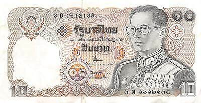 Thailand  10  Baht  ND. 1980   series 3 D  sign. # 63  Circulated Banknote