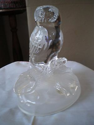 Vintage French Crystal Glass OWL Cristal D'Arques Rock Crystal