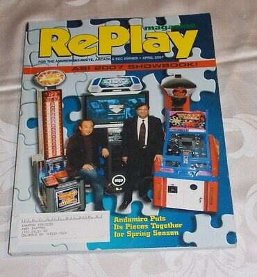 April 2007 Replay Magazine,monthly Magazine For The Amusement Game Industry