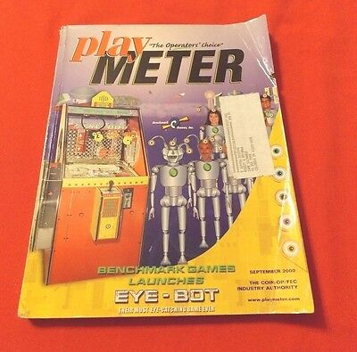 Play Meter Magazine,september 2000. Benchmark Games Launches Eye-Bot