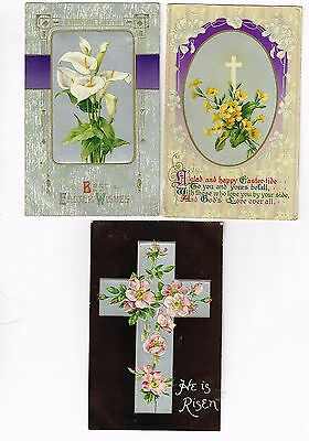 3 X EASTER POSTCARDS, Used, postmarked 1910 & 1911