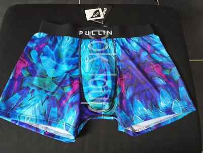 BOXER CALECON UNDERWEAR HOMME FASHION PULL IN nuit jungle bleu  NEUF M L