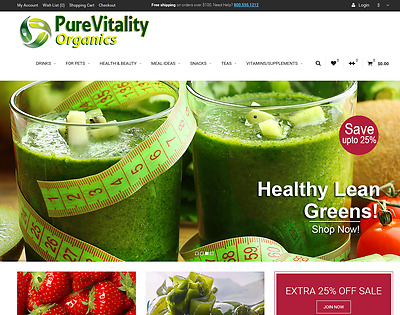 Organic products turnkey website for sale - Established Domain & Website