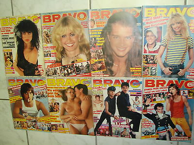 Bravo Magazines from 8x 1981 no. 1,7,18,45,47,51,52,53 ohne Poster Collection