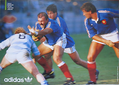 Poster Rugby vintage ADIDAS soulier d'OR 88