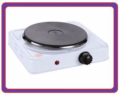 1500W White Single Boiling Ring Cast Iron Electric Hot Plate Hob