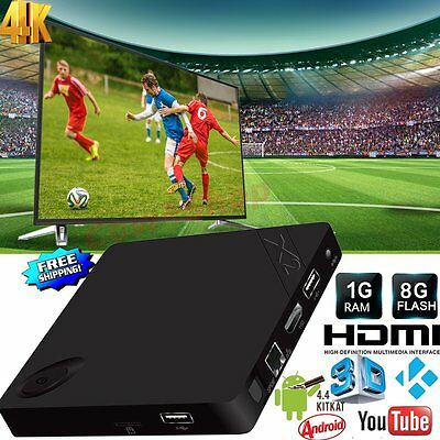 4K X2 Android Smart TV Box Quad Core Android 4.4 1G+8G HD  Free Sports Movies