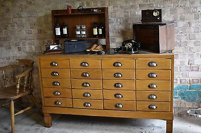 Antique Haberdashery Cabinet Shop Counter With Drawers Mid Century storage