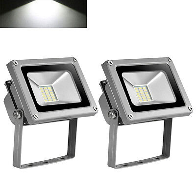 2X 20W LED Floodlight SMD Security Garden Lamp IP65 Outdoor LED Lamp Cool White