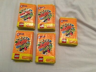 Lego Create the World Cards Sainsbury's Exclusive 50 Packs (200 Cards)