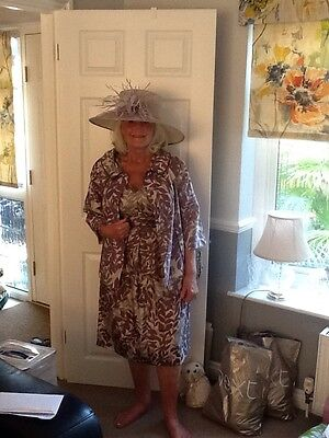 Stunning Mother of the bride dress and jacket and accessories size 14