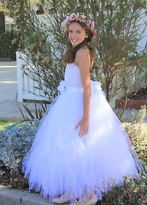 Tutu Criss-Cross Back Flower Girl Dresses Wedding Pageant Easter Communion 119F