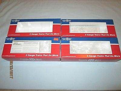 4 Original MTH Trains S Scale Freight Car Boxes for #73025 x2, 29083 & 29076