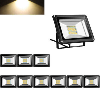 10X 30W LED Floodlight IP65 Outdoor Security Garden Lamp  LED Lamp Warm White