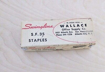 Vintage SwinglineS.F. 35 Standard Wire Staples Made in USA Wallace Office Supply