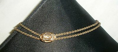 Antique Necklace Gold Double Chain Choker Star