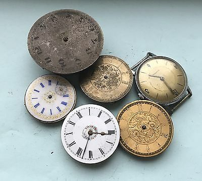 Job Lot Pocket Watch Watch Movements Watchmakers Spares Or Repair