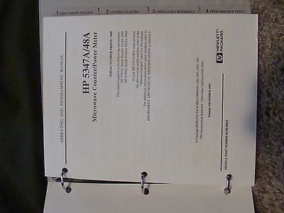 Agilent / HP 5347A / 5348A Microwave Counter / Power Meter Ops & Program Manual