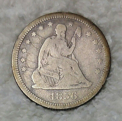 Seated Liberty Quarter 1856 - Free Shipping