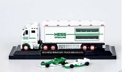 Hess Toy Truck - 2013 Hess Miniature 18 Wheeler and Racecars - MiB - FD USA