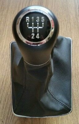 Genuine Vauxhall Astra H Mk5 5 Speed Manual Gear Knob Stick & Gaiter Gaitor