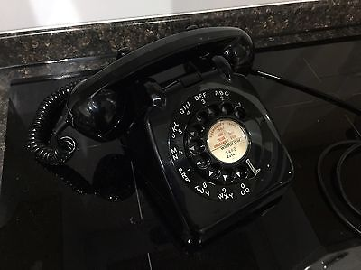 All Original 1963 GPO Black 706 Rotary Telephone