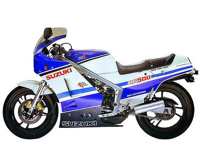 SUZUKI RG 500 WORKSHOP SERVICE MANUAL 500 GAMMA 230 PAGES papaer bound copy.
