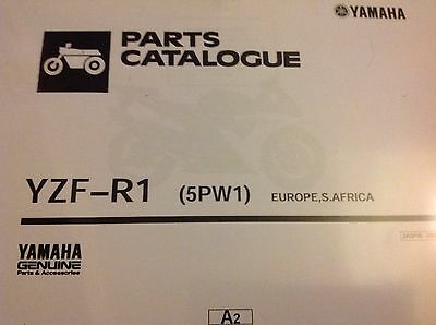 YAMAHA  R1 YZF-R1 PARTS LIST MANUAL CATALOGUE 2001 YZF 5PW1 paper bound copy