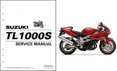 SUZUKI TL 1000 S DEALER WORKSHOP SERVICE MANUAL 1998 - 2001 Paper bound copy