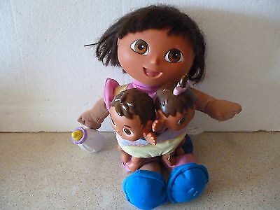 Dora The Explorer Big Sister Talking Doll With 2 Babies
