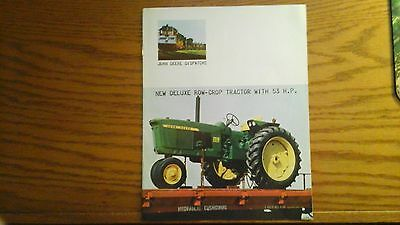 john deere new deluxe row-crop tractor brochure 53 hp