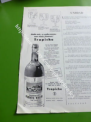 Trapiche Wine Old Ad 1 Advertising In Spanish Rare