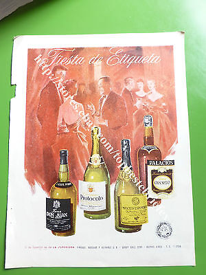 La Superiora Jerez Moscato Champagne Wine Old Ad 1 Advertising In Spanish Rare