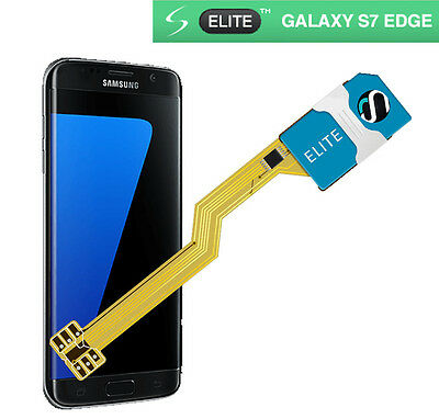 Dual SIM card adapter for Samsung Galaxy S7 EDGE - ELITE - NO CUT - UK