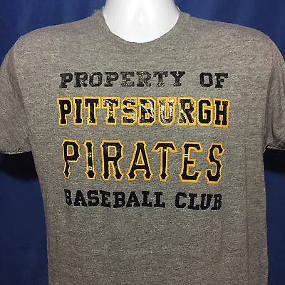 VTG 1980s Pittsburgh Pirates Training Camp T Shirt Thin Soft Rayon Triblend 80s