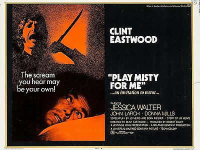 """Play Misty for Me 16"""" x 12"""" Reproduction Movie Poster Photograph"""