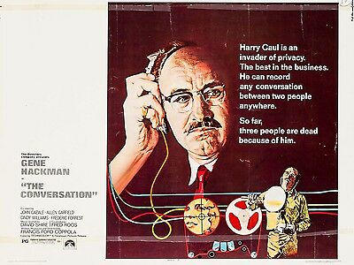 """The Conversation 16"""" x 12"""" Reproduction Movie Poster Photograph"""
