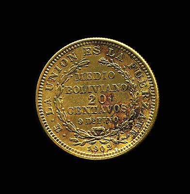 1902 - 20 centavos - Bolivia - Pattern Pn#55 - Essai -  Brass - Medal Axis