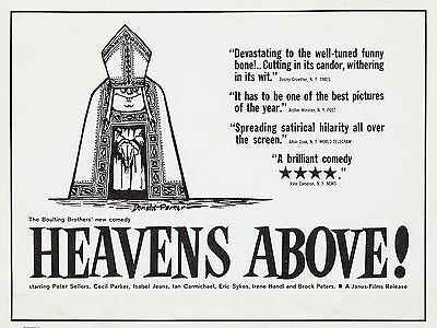 "Heavens Above 16"" x 12"" Reproduction Movie Poster Photograph"