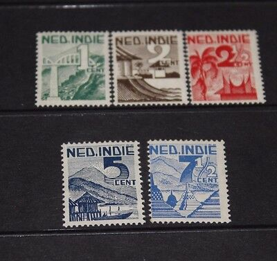 Netherlands Indies 1946 Views,landscapes Issues In Set Of 5, M/n/h