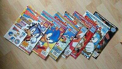 SONIC THE COMIC (FLEETWAY UK) 1993 sega numbers 1,2,3,4,5,6,7