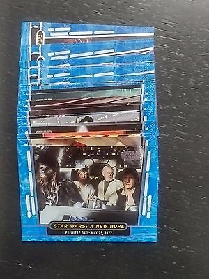 2017 Topps Star Wars 40th Blue (23 cards) and base (37) lot numbers in descrip.