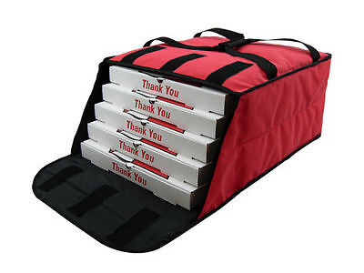 "Case of OvenHot Red Fabric Pizza Bag holds 4-5 16"" or 18"" Pizzas NEW"