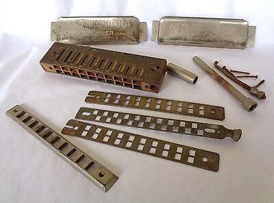 """The Chromonica"" Chromatic Harmonic Parts/ Repair  M HOHNER Germany STEAMPUNK!"
