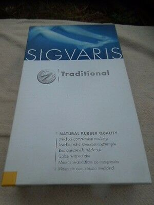SIGVARIS MEDICAL TRADITIONAL COMPRESSION 3 STOCKINGS -OPEN TOE BEIGE M Long