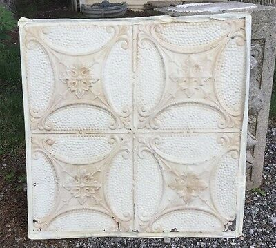 Antique Vintage Decorative Tin Ceiling Tile Panel 24x24 Two Tone