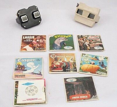 2 Vintage Sawyer's View-Masters With lot of Reel Sets