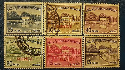 Pakistan 1961-1965 stamps set , block of 6 stamps set.